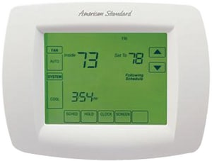 American Standard HVAC 1 Heat 1 Cool Programmable 7 Day Thermostat AACONT800AS11AA