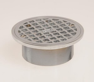 Jay R. Smith Manufacturing 8 in. Adjustable Strainer with Round Grate Top Nickel Bronze SA08NBX