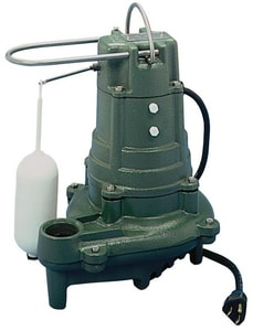 Zoeller 115V 1/2 HP Cast Iron Auto Effluent Pump With 10 Ft. Cord Z1370001