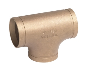 Victaulic Style 620 3/8 in. Grooved Copper Tee VF020620C0C