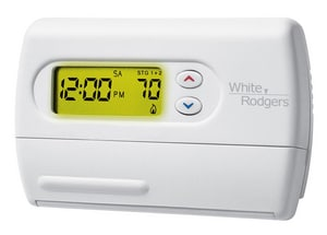 White Rodgers 7 Day Programmable Hardwire/Battery Power Thermostat W1F85277