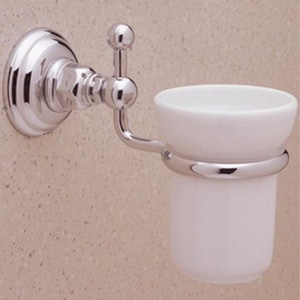 Rohl Country Bath Brass Wall Mount Tumbler Holder in Polished Nickel RA1488PN