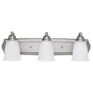 Capital Lighting Fixture 6-3/4 in. 100 W 3-Light Medium Bracket in Matte Nickel C1013MN132