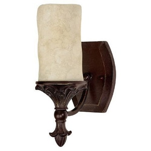 Capital Lighting Fixture Mediterranean 100 W 1-Light Medium Wall Sconce in Mediterranean Bronze C1041MZ125