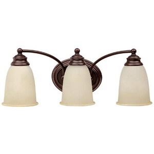 Capital Lighting Fixture 8 in. 100 W 3-Light Medium Bracket in Mediterranean Bronze C1088130