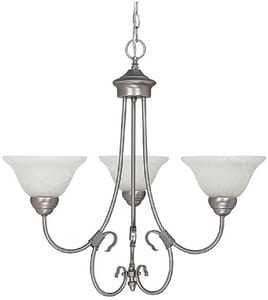 Capital Lighting Fixture Hometown 100W 3-Light Medium Incandescent Chandelier in Matte Nickel C3223MN220
