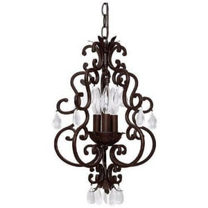 Capital Lighting Fixture Petite 3-Light Chandelier in Mediterranean Bronze C3763MZ