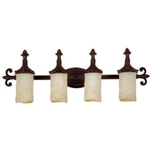 Capital Lighting Fixture 9 in. 100 W 4-Light Medium Bracket in Mediterranean Bronze C1044MZ125