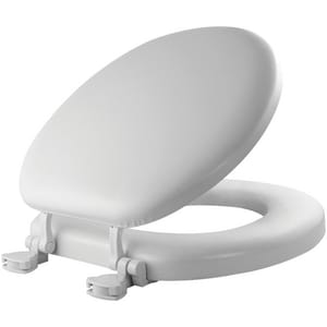 Mayfair Plastic Round Closed Front With Cover Toilet Seat B13EC