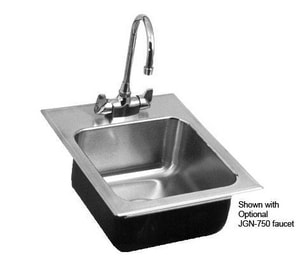 Just Manufacturing 3-Hole Single Bowl Stainless Steel Kitchen Sink in Brushed Steel JSL17519B3