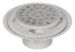 Weld-On 3 in. PVC Stainless Steel Less Profile Shower Drain with Reversible Clamp I67008
