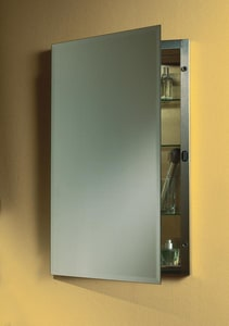 Jensen 16 x 20 in. Single Door Recessed Beveled Mirror Medicine Cabinet in White RAN1447