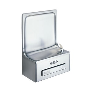 Elkay Legacy 20 ga. No Lead Simulated Semi- Recessed Wall- Mount Drinking Fountain Stainless Steel EEDFP19C