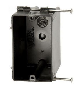 Allied Moulded Products 24 cu in. Single Gang Angled Nail Switch Box with Quick Thread AP241QT