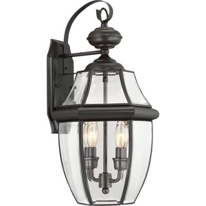 Quoizel Newbury 11 in. 60 W 2-Light Candelabra Lantern QNY8317