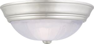 Quoizel Alabaster Melon 60 W 2-Light Medium Flush Mount Ceiling Fixture QAL183ES