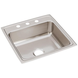 Elkay Gourmet® 1-Bowl Stainless Steel Topmount Kitchen Sink with Center Drain ELR2222