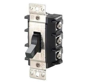 Leviton 3-Pole Toggle Switch in Black LMS303DS