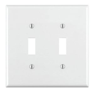 Leviton 2-Gang Toggle Switch Wall Plate L80709