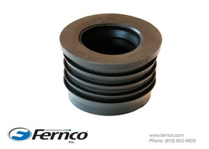 Fernco 2 x 1-1/2 in. Cast Iron x Hub Schedule 40 Service Weight Donut F22U139