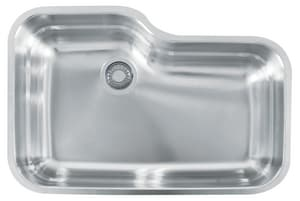Franke Consumer Products Orca 30-11/16 x 20-1/6 in. Single Bowl Under-Mount Kitchen Sink FORX110
