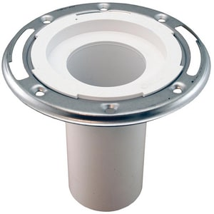 Jones Stephens 6 in. PVC Closet Flange with Stainless Steel Ring Less Knockout JC57236