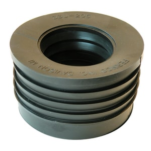 Fernco Schedule 40 Cast Iron Service Weight Hub x Cast Iron Service Weight Donut F33U5