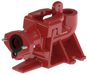 Liberty Pumps Cast Iron Guide Rail Base with Flange (1-1/4 in. Pipe Not Included) LGR20
