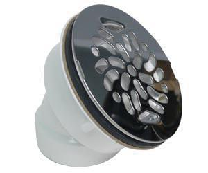Canplas Industries 45 Degree Offset PVC Shower Drain with Top C322542WSS