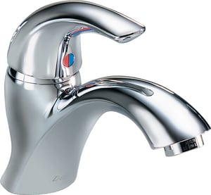 Delta Faucet Cer-Teck® 0.5 gpm 1-Hole Lavatory Faucet with Single Lever Handle D22C651