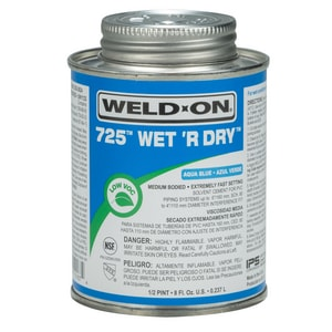 Weld-On PVC Medium Body Cement in Aqua Blue I1016