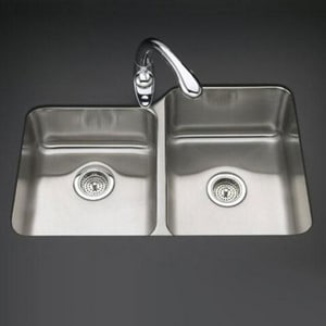 Kohler Undertone® Under-Mount 55/45 Split Double Bowl Sink K3177-L-NA