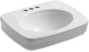 Kohler Bancroft® 3-Hole Pedestal Oval Bathroom Sink Basin K2340-4