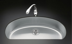 Kohler Undertone® Single Bowl Undercounter Kitchen Sink  Stainless Steel K3185-NA