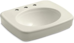 Kohler Bancroft® 3-Hole Pedestal Bathroom Sink Basin K2340-8