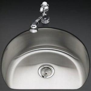 Kohler Undertone Single Basin Kitchen Sink With Silent Shield K3186