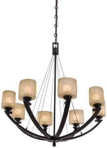Minka-Lavery Raiden™ 100W 8-Light Medium E-27 Incandescent Chandelier with Venetian Scavo M1188