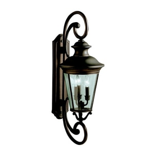 Kichler Lighting Eau Claire 15 in. 60 W 1-Light Candelabra Lantern KK9348OZ