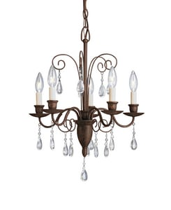 Kichler Lighting Barcelona 60 W 6-Light Candelabra Chandelier KK1631TZ
