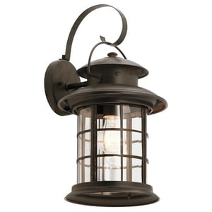 Kichler Lighting Rustic 10-1/2 in. 150 W 1-Light Medium Lantern KK9761RST
