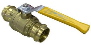 FNW 2-Piece Press Brass Full Port Ball Valve with Locking Handle FNW435