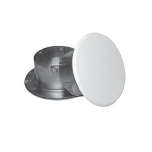 Uponor North America Flat Concealed Cover Plate in White UQ70643WH