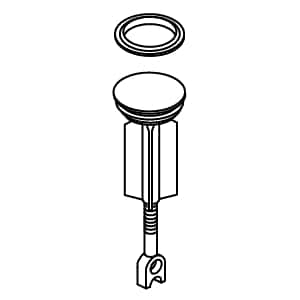 Kohler Brushed Brass Plunger Assembly in White K1036994-G