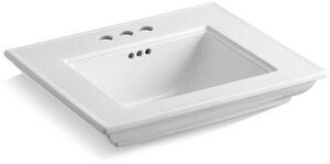 Kohler Memoirs® 24 x 20 in. 3-Hole 4 in. Centers Basin Only Lavatory Sink K2345-4