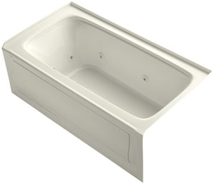 Kohler Bancroft® 60 x 32 in. Alcove Whirlpool Tub with Integral Apron and Right Hand Drain K1151-RA