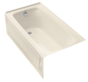 Kohler Bancroft® 60 x 32 in. 3-Wall Alcove Air Bath with Integral Apron and Left Hand Drain K1151-GLA