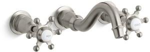 Kohler Antique™ 1.2 gpm 3-Hole Lavatory Faucet with Double Six Prong Handle KT154-3