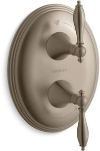 Kohler Finial® 6-3/4 in. Traditional Valve Trim with Single Lever Handle KT10302-4M