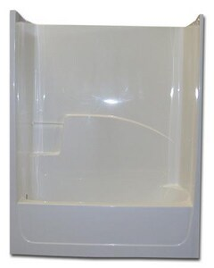 Spurlin Industries 60 x 30-1/2 in. Fiberglass Left Hand Tub and Shower SF6031TSWH