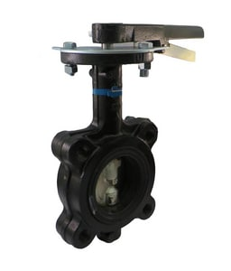 Milwaukee Valve 200 psi Ductile Iron Flanged Butterfly Valve with Lever Operator MML233E